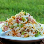 Fried Rice with Bacon and Vegetables