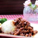 Rice with Stewed Pork - Taiwan Style